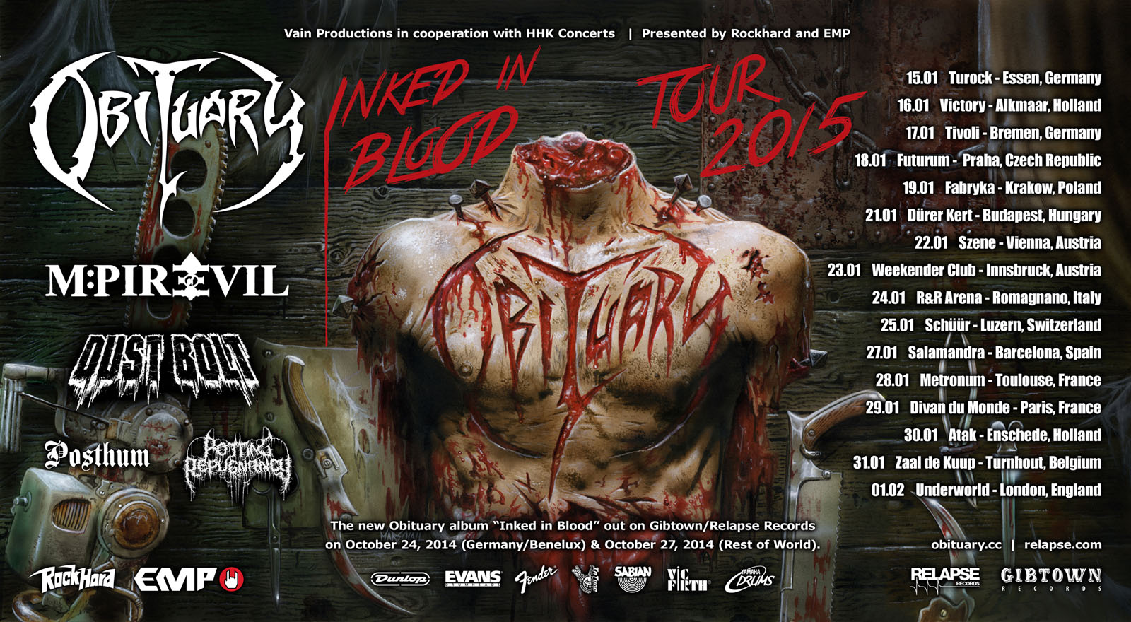 Inked in Blood - Europe Tour 2015