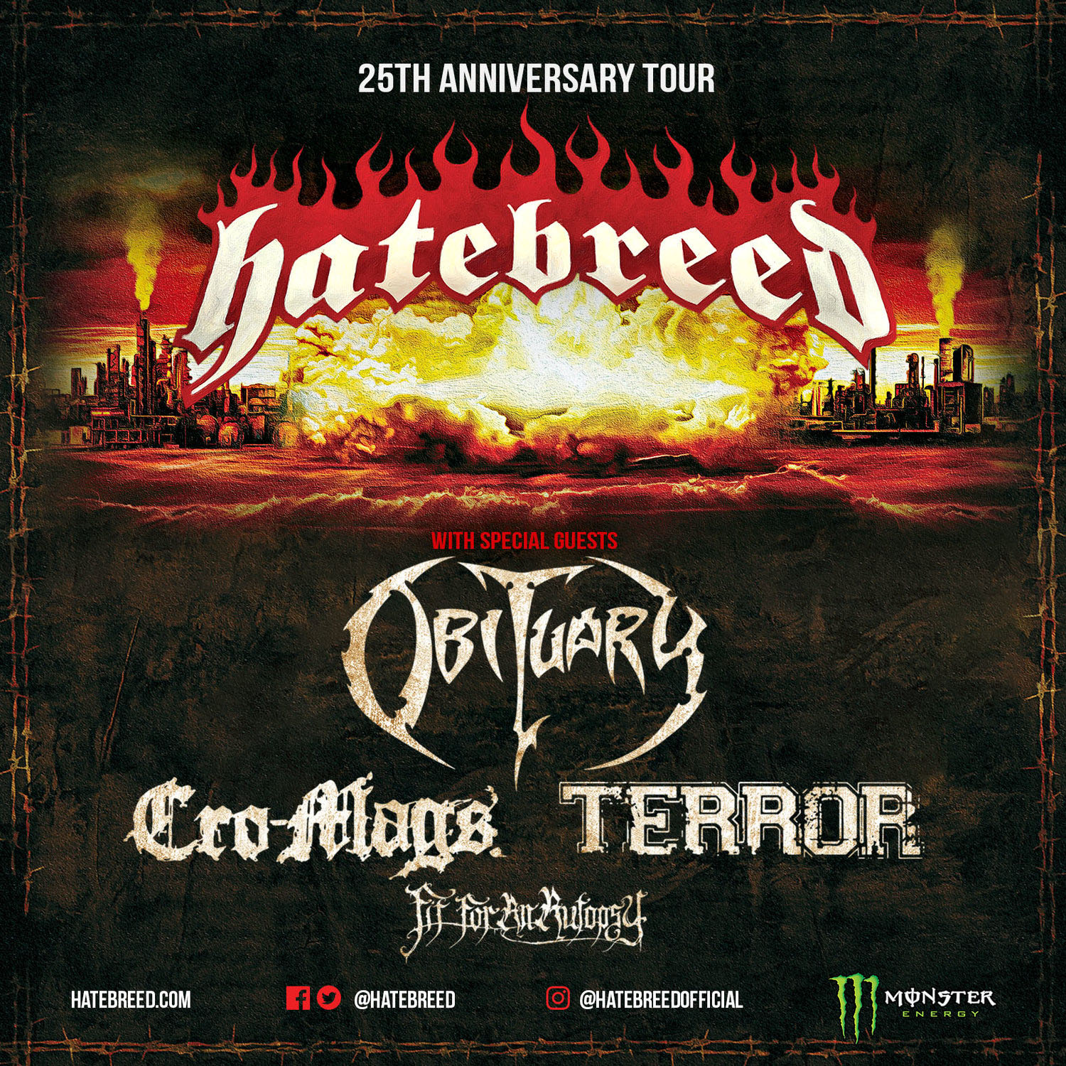 Obituary with Hatebreed North America