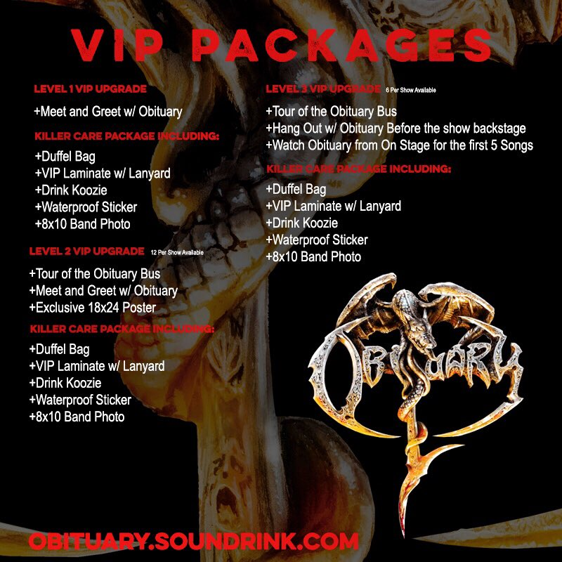 North American Tour 2018 - VIP PAckages