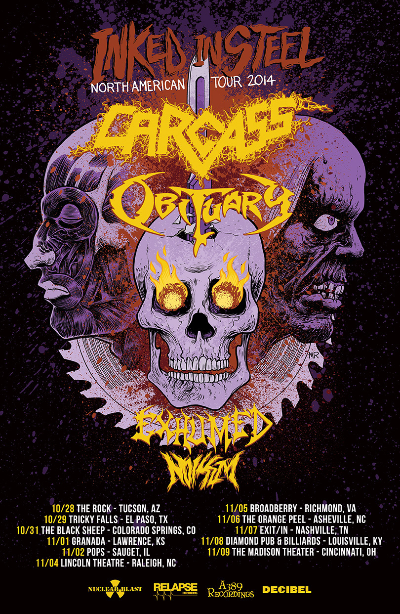Inked in Steel - Obituary/Carcass US Tour